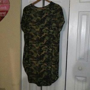 Flowy Camouflage Tunic